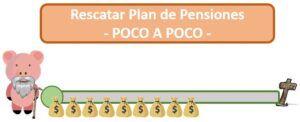 Rescatar plan de pensiones poco a poco